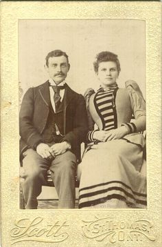 Woman And Man Sitting Photographed By Scott Of St