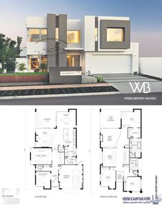 Fine Plan Maison Tunisie Architecture that you must know, You?re in good company if you?re looking for Plan Maison Tunisie Architecture Modern House Floor Plans, Dream House Plans, Modern Villa Design, House Map, House Layouts, Architecture Plan, Facade House, Exterior Design, Building A House