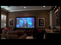 ▶ My Dream DIY Home Theater/Media Room - YouTube tan brown color theme