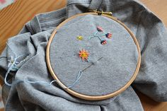 frankie exclusive diy: floral embroidered t-shirt   frankie magazine