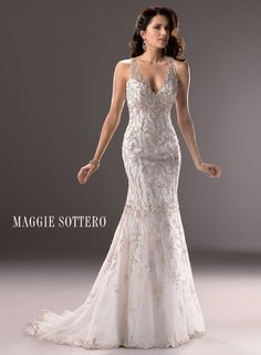 Blakely - Bridal Gown by Maggie Sottero ( shown colour in Ivory/Gold)