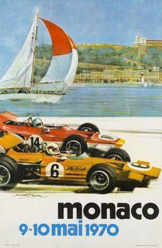 Monaco, Grand Prix 1970 (Turner Michael / 1970) Original small poster for the Monaco Grand Prix 1970. Rare.