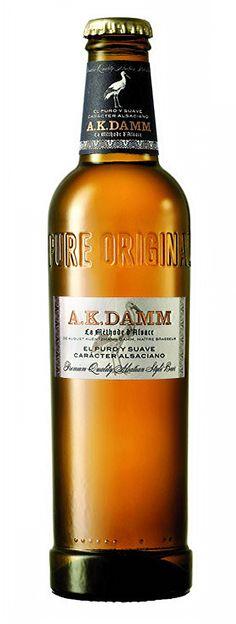 A.K. Damm / Cerveza española de tipo Euro Pale Lager de color ámbar, no demasiado gasificada / Alcohol 4,8% / BA SCORE 73 okay