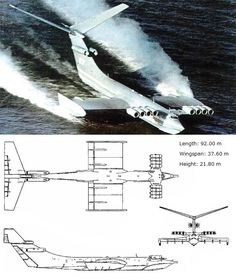 Ekranoplan KM <WIG> Air Force Aircraft, Fighter Aircraft, Fighter Jets, Russian Military Aircraft, Aviation Technology, Ground Effects, Russian Air Force, Military Weapons, Nose Art