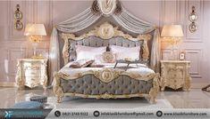 Tempat Tidur Mewah Jepara Luxury Classic New Release Harga Terjangkau Cozy Furniture, Bedroom Furniture Sets, Classic Furniture, Bedroom Sets, Luxury Furniture, Furniture Design, Bedroom Decor, Wooden Furniture, Princess Bedrooms