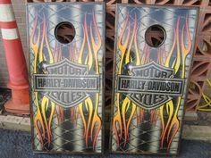 Harley Davidson Corn Hole Games Harley Davidson Gifts, Corn Hole Game, Cornhole, Games, Gaming, Plays, Game, Toys, Corn Hole Bags