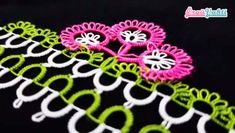 Mekik Oyası Havlu Kenarı Üç Çiçek Modeli Yapımı Türkçe Anlatımlı Videolu #havlukenarıörnekleri #kadın #çeyizlik #towellace #handtuchspitze #handmade