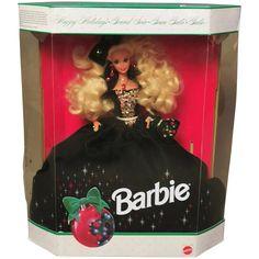 Happy Holidays Barbie, Velvet Gown, Vintage Barbie Dolls, Barbie Collector, Old Toys, Green Velvet, Old Fashioned Toys