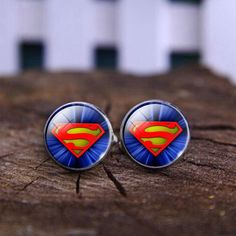 SuperMan Cuff Links with Case, Best Man, groomsman, bridesman cufflinks, custom wedding gifts wedding gift White by DESIGNERSHINDIGS on Etsy