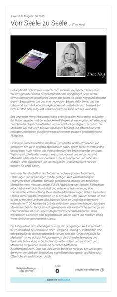 Lavendula Magazin 06.2015Von Seele zu Seele.. (Tina Hag)
