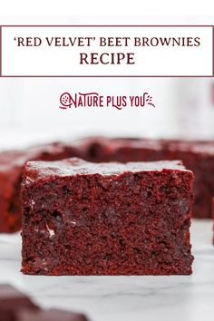 OMG. This 'red velvet' beet root powder brownie recipe will knock your socks off! head to the link for the recipe.