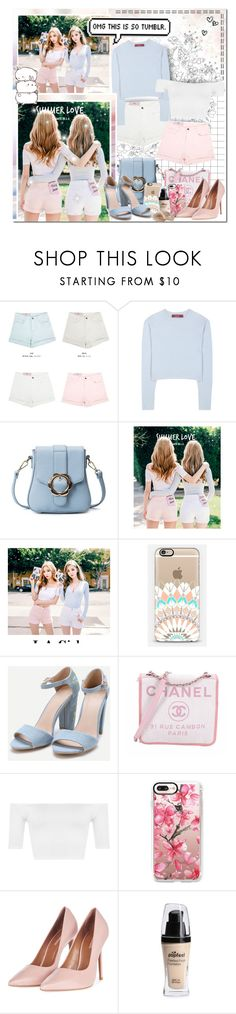 """""""The Pastel Princesses"""" by angelstylee ❤ liked on Polyvore featuring Sies Marjan, Chanel, WearAll, Casetify and Topshop"""