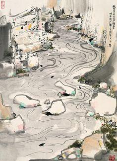 吴冠中 峡谷 by China Online Museum - Chinese Art Galleries, via Flickr