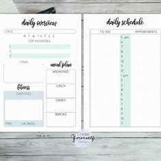 Printable planners and bullet journal by CreateYourselfShop