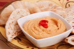 ¡Este hummus de pimiento está delicioso! #hummus #hummusdepimiento #pimientorojo #hummusconpimiento #recetasfáciles #recetasrápidas