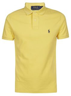 Polo Ralph Lauren Slim-fit Polo Shirt In Yellow Slim Fit Polo Shirts, Polo T Shirts, Collar Shirts, Camisa Polo, Business Casual Men, Men Casual, Sports Jersey Design, Polo Shirt Design, Polo Lauren