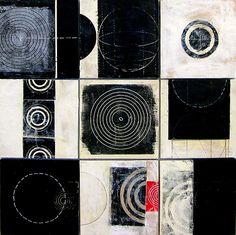 Black+White Tiles: Graceann Warn: Encaustic Painting | Artful Home