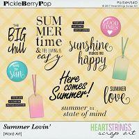 Summer Lovin' Word Art {Heartstrings Scrap Art}