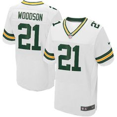 Nike Elite Green Bay Packers Charles Woodson 21 White NFL Jersey for Sale Sale