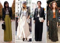С чем носить длинную юбку 7