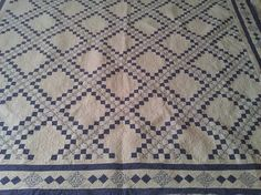 Blue and White Irish chain Quilt posted by rosemaynes from the quiltingbaord.com