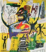 Jean-Michel Basquiat, Pyro, (1984), médiums divers sur toile, 218x172cm, collection particulière.