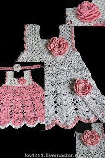Croche pro Drink: Dresses in crochet Crochet Crafts, Crochet Yarn, Crochet Stitches, Crochet Projects, Crochet Dress Girl, Crochet Girls, Crochet For Kids, Crochet Baby Costumes, Crochet Baby Clothes