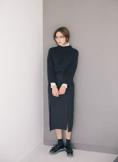 Cropped High Neck Pullover   STYLENANDA