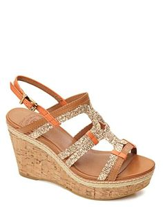 b457cf4225a35 mmm yes i like the little bit of orange in them! Sparkly Sandals