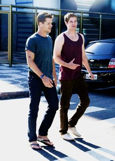 daniel sharman and one of the carver twins (i'm not good saying which is which so i won't even try)