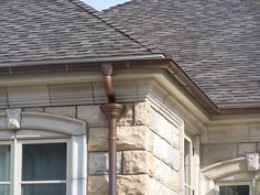 Faux Copper Gutters Google Search Roof Grey Houses Old