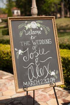 every last detail | wedding inspiration | wedding details | signage | chalkboard