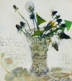 Kurt Jackson, Dandelions from the banks of the Thames.