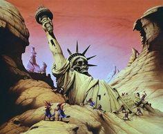 Science Fiction Landscapes by Roger Dean