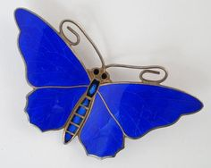 An Norwegian silver and enamel butterfly brooch by Aksel Holmsen, approx 5cm wide. - Price Estimate: £80 - £120