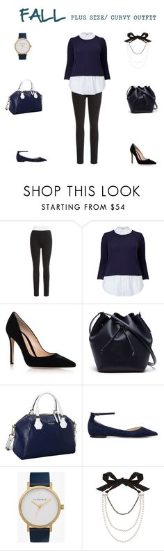 """""""Fall Plus Size / Curvy Outfit"""" by jessicasanderstx ❤ liked on Polyvore featuring Marc New York, Studio 8, Gianvito Rossi, Lacoste, Kate Spade, Jimmy Choo, The Horse and Lanvin"""
