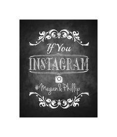 Instagram Wedding Chalkboard Sign - DIY Download and Print - Printable File - Royal Wedding Collection