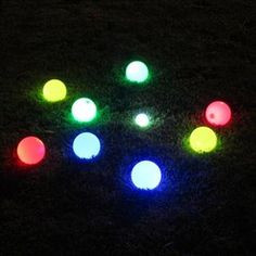 Glow in the Dark Bocce Balls for Beach wedding fun at night