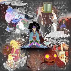 View full-size (1600x1600 1,342 kB.) Mononoke Anime, Kitsune Mask, Hotarubi No Mori, Anime Kimono, Natsume Yuujinchou, Art Corner, Kintsugi, Manga Characters, Awesome Anime