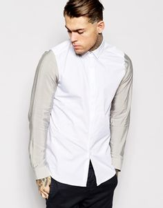 ASOS+Smart+Shirt+In+Long+Sleeve+With+Colour+
