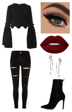 """""""Untitled #325"""" by valerialoman on Polyvore featuring Christian Siriano, River Island, ALDO, Lime Crime and Alexander McQueen"""
