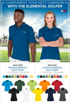 Complement your next campaign with The Elemental Golf Shirt Mens Elemental Golf Shirt Ladies Elemental Golf Shirt Item includes embroidery or full colour digital transfer. Golf Trophies, Promo Gifts, Free Advice, Golf Gifts, Company Names, Corporate Gifts, Screen Printing, How To Apply, Branding