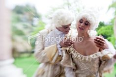 Marie Antoinette Flirting With Her Friend Royalty Free Stock Photo