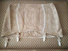 #Vintage 1950'sLight Beige Cream Lace Garter Belt 4 Straps AVAILABLE  #pinupgirlclothing #fashioninspiration #etsy
