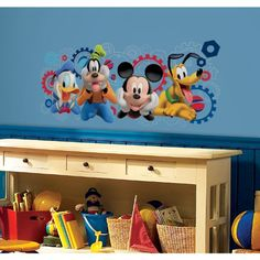 RoomMates RMK2561GM Mickey and Friends Mickey Mouse Clubhouse Capers Peel and Stick Giant Wall Decals ** Click on the image for additional details.-It is an affiliate link to Amazon. #KidsRoomDcor