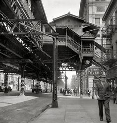 Under the El. New York, 1942.  By Marjory Collins