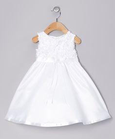 Love this Lauren Madison White Floral Dress by Lauren Madison on #zulily! #zulilyfinds