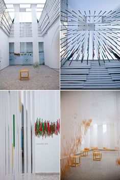 Photographs of the Hungarian Pavilion Patricia Parinejad. Beautiful installation using humble wood pencils