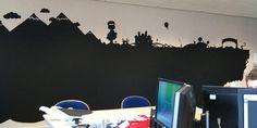 Blackboard paint design at top