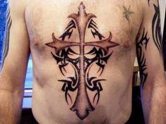 Chest Cross Tattoo Ideas For Men - Inofashionstyle.com